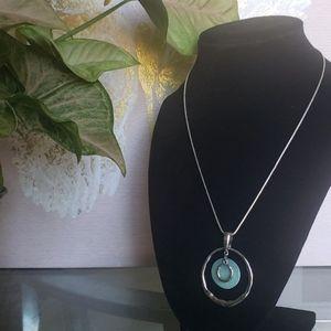 Lia Sophia Circle Pendant Necklace